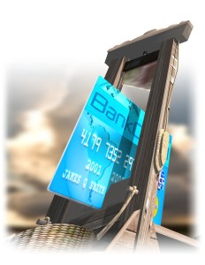 ILLUSTRATION: Credit-card guillotine