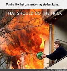 first payment on student loans