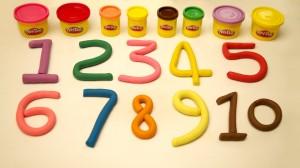 numbers playdoh